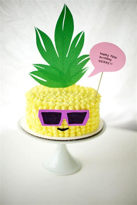 Backyard Grill Charcoal My Dad S 70th Birthday Pineapple Wearing Sunglasses Cake