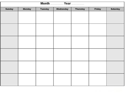 activity planner template printable blank monthly calendar activity shelter
