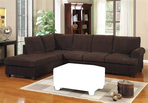 Corduroy Sectional Sofa 2 Pc Modern Reversible Chaise Sectional Sofa Chocolate Corduroy Fabric New Ebay