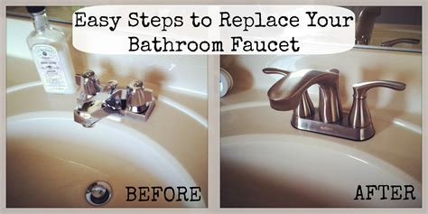 how to replace a kitchen faucet easy diy how to change a bathroom faucet life with lyn