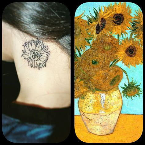 van gogh sunflower tattoo gogh sunflower www pixshark images
