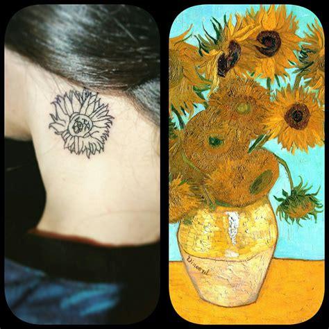 van gogh sunflower tattoo gogh sunflower www pixshark images