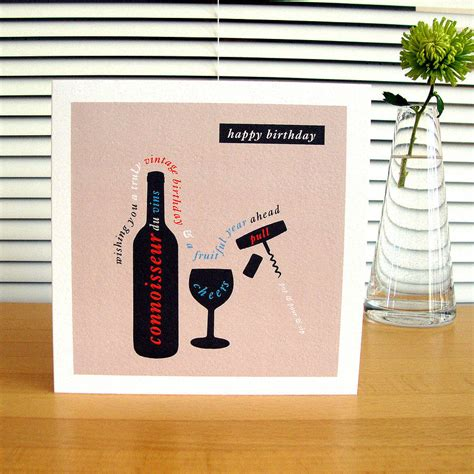 birthday wine personalised car boat wine birthday cards by designed