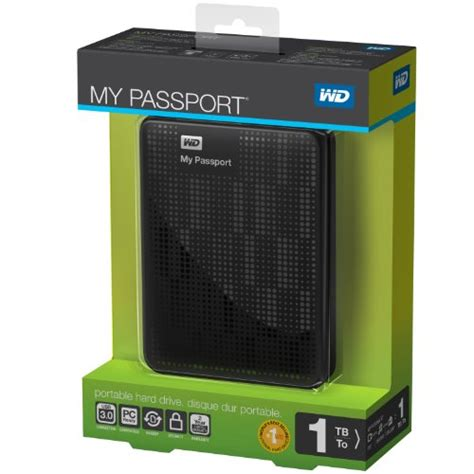 Harddisk External My Passport 1tb wd my passport 1tb portable external drive storage usb 3 0 black in the uae see prices