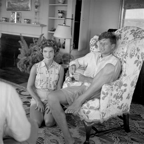 home to jfk 1953 jackie and jfk barefoot and newly engaged