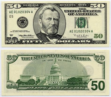 printable images of us currency u s fifty dollar bill 1996 50 federal reserve ladder