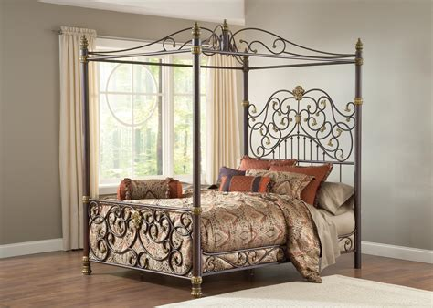 canopy bed sets hillsdale furniture stanton queen canopy bed set w matching side rail by oj commerce