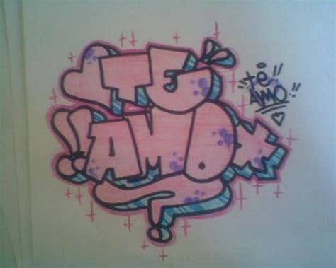 imagenes que digan jennifer graffitis de te amo arte con graffiti