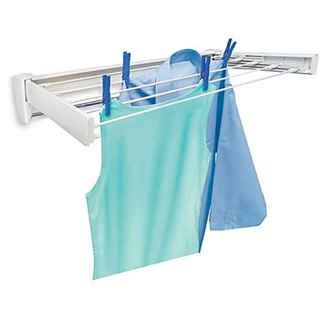 bed bath and beyond dish drying rack buy leifheit telefix 70 stainless steel wall mount drying rack from bed bath beyond