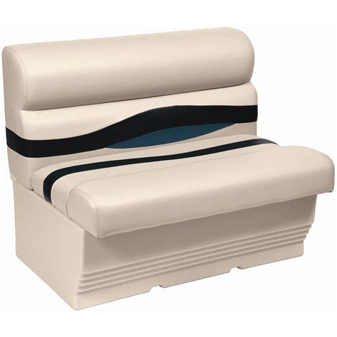 wise bench seat wise 174 premier 45 quot pontoon bench seat 291855 pontoon seats at sportsman s guide