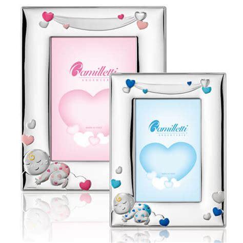 cornici bimbo cornice portafoto bimbo argento con cuoricini 13 215 18