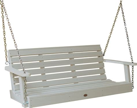 plastic outdoor swing set highwood outdoor synthetic plastic wood porch swing set