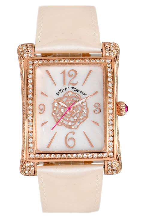 Betsey Johnson Time by Betsey Johnson Bling Bling Time Square In Pink