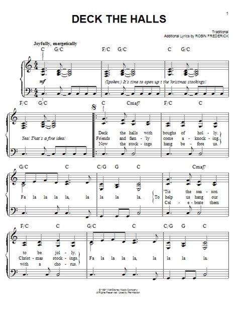 printable lyrics for deck the halls deck the halls sheet music direct