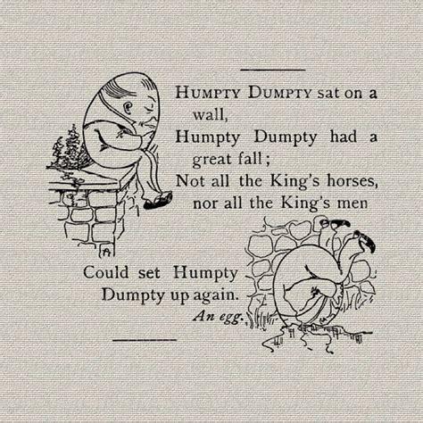 full humpty dumpty rhyme nursery rhyme humpty dumpty egg nursery decor art by