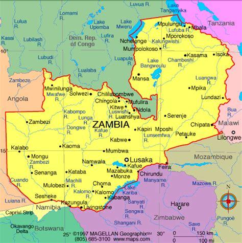 atlas zambia map infoplease