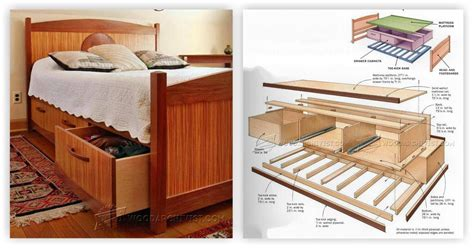 storage bed plans under bed storage plans woodarchivist