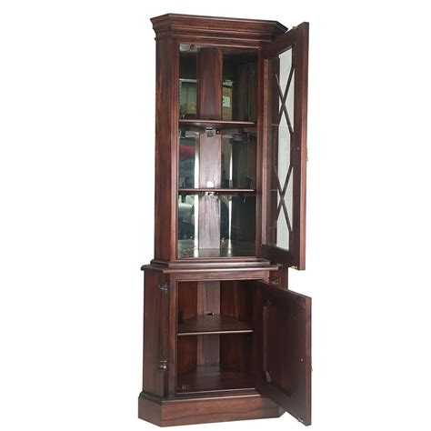 wood corner cabinet solid mahogany wood corner cabinet antique reproduction design