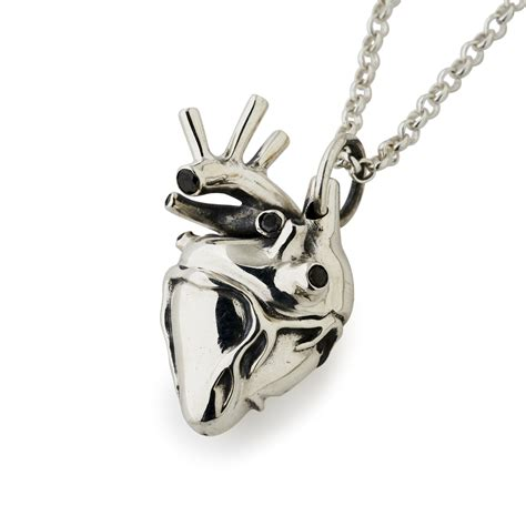 large silver anatomical pendant the great frog
