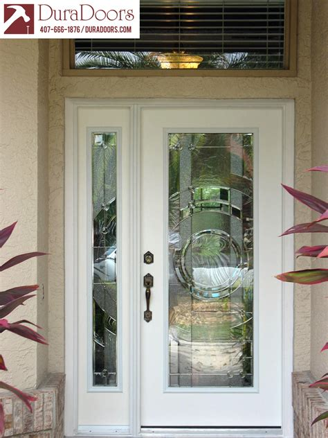 Glass Sidelights For Doors Plastpro Entry Door And Sidelight With Entropy Glass By Odl Duradoors