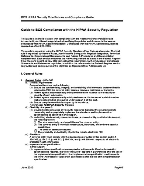 Bcs Hipaa Security Rule Policies And Compliance Guide Free Download Hipaa Information Security Policy Template