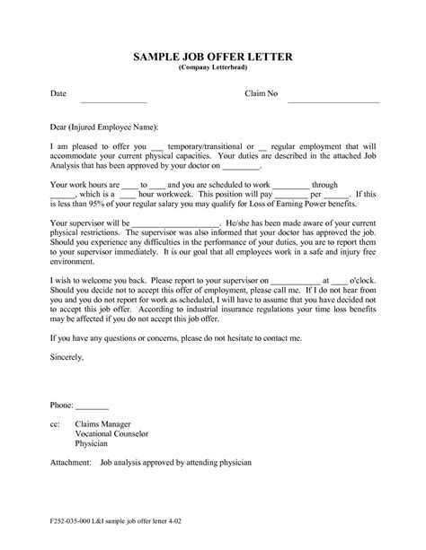 Offer Letter Of Employment Sle offer letter format malaysia docoments ojazlink