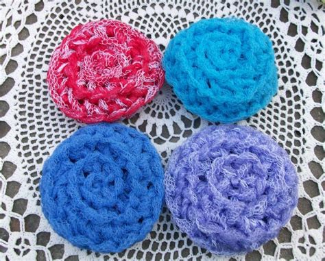 Handmade In The Usa - 8 crocheted dish scrubbies kitchen handmade in the