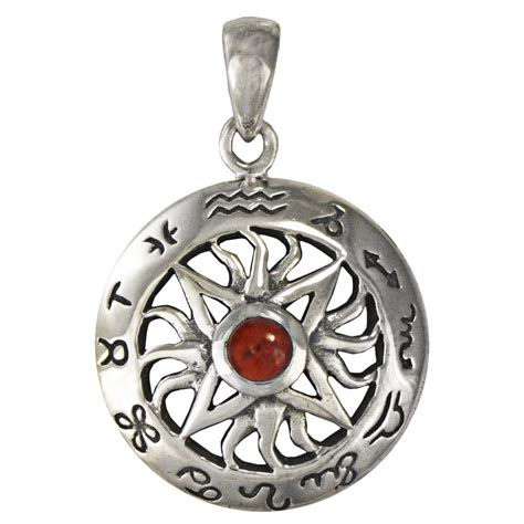 where to buy sterling silver for jewelry sterling silver sun garnet wheel of zodiac astrology sign