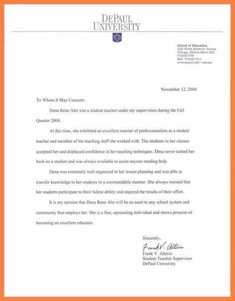 Recommendation Letter For Student Employment proper sle reference letter for a student letter