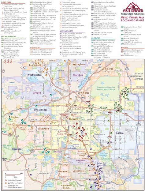 map usa denver denver metro area hotel map