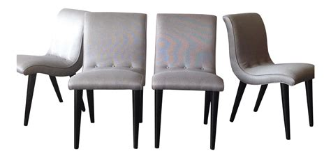 Scoop Dining Chairs Conant Scoop Dining Chairs Set Of 4 Chairish