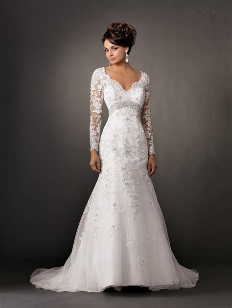 custom wedding dress v neck vintage long sleeve lace wedding dresses backless