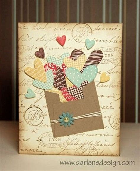 Creative Handmade Cards - adorable valentines day handmade card ideas pink lover