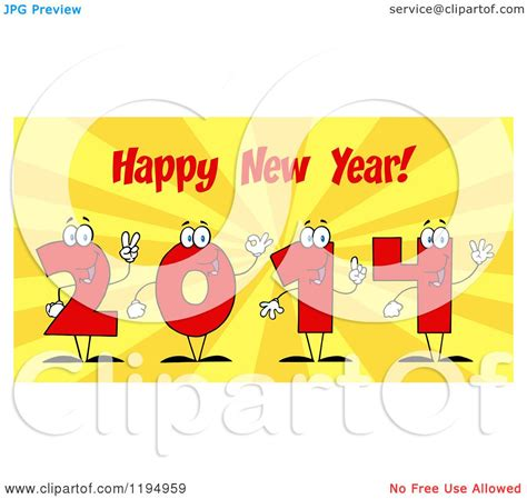 new year in characters of 2014 number characters happy new year