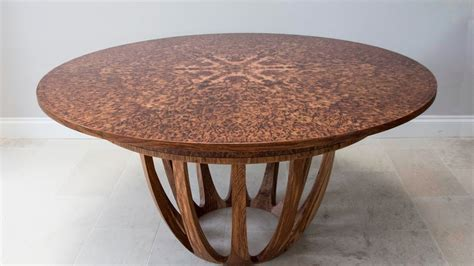 expanding circular dining table expanding circular dining table in brown oak burr