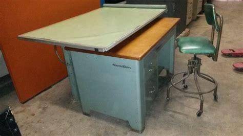 table top hydraulic 1950 s hamilton drafting table hydraulic tilt top lift
