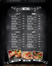 Photoshop Restaurant Menu Template by Cafe Menu Template 39 Free Word Pdf Psd Eps