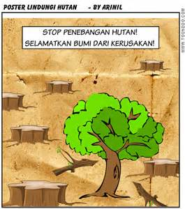 poster stop penebangan hutan catatan arin