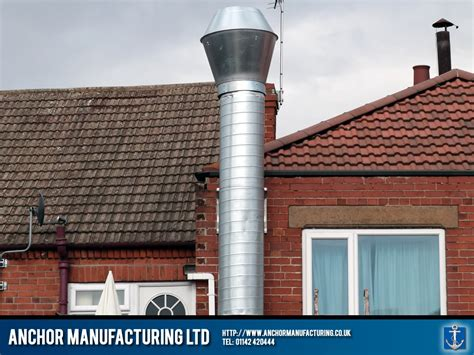 External air extraction ducting and silencer.   Anchor