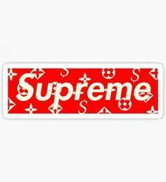 Sticker Supreme X Louisvuitton 2 free shipping transparency waterpoof uv proof laptop sticker supreme guitar box luggage skins