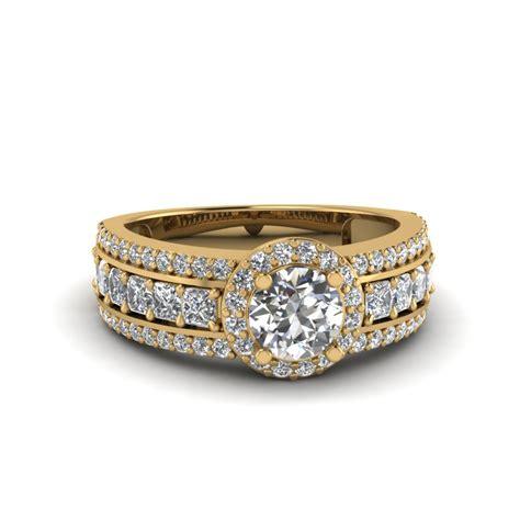 Wedding Rings Trio by Engagement Rings Bridal Trio Wedding Ring Sets
