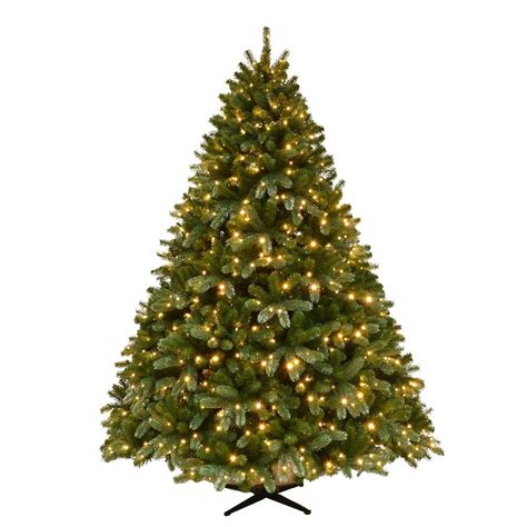 what artificial pre lit chridtmas are at home depot home accents 7 5 ft pre lit grand fir set artificial tree with