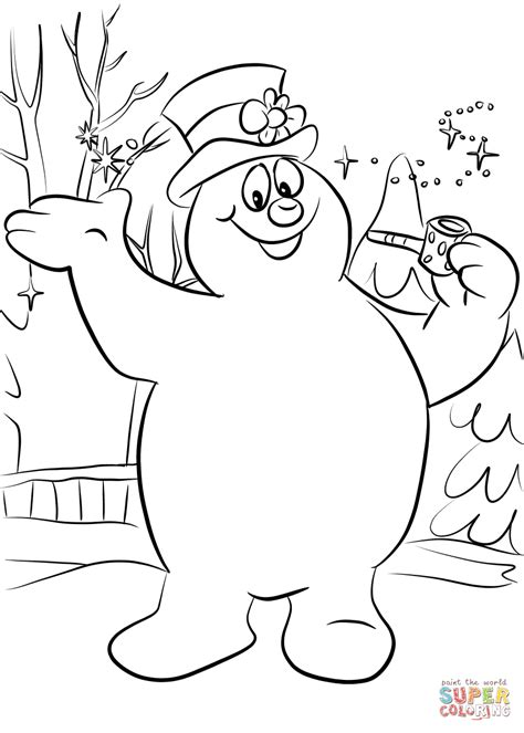 snowman coloring printable coloring pages frosty the snowman page