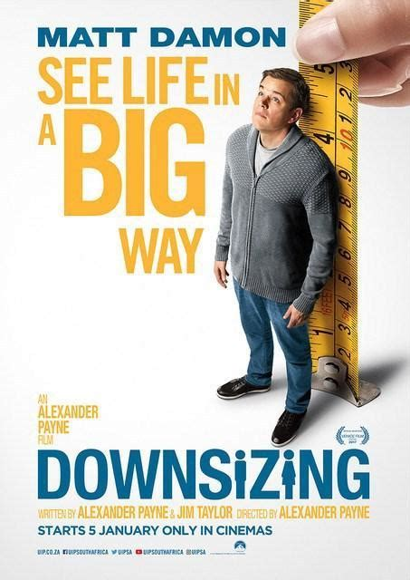 movies releasing this week downsizing by matt damon and christoph waltz downsizing 2017 filmaffinity