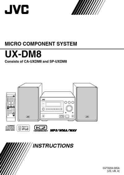 JVC UX-DM8 Home theater download manual for free now