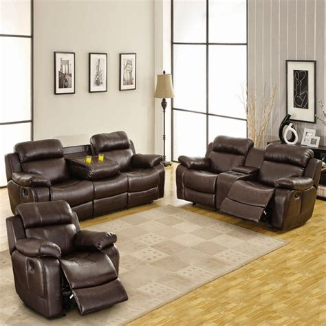 leather reclining sets reclining sofa sets sale reclining sofa sets with cup holders