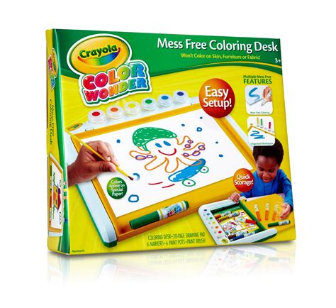 color wonder art desk crayola color wonder mess free art desk 1 kit