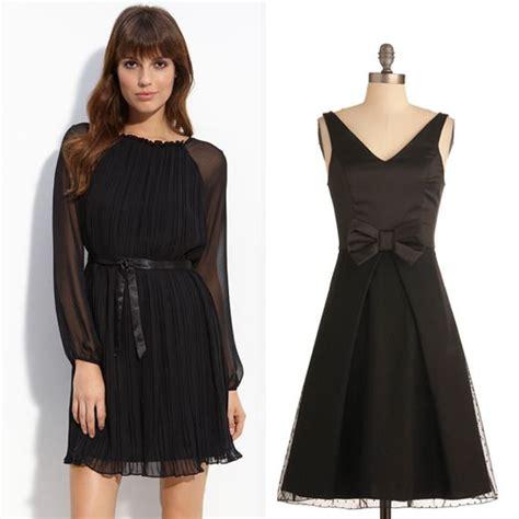 Busana Dress Wanita Arc 004 fitinline sejarah gaun berwarna hitam