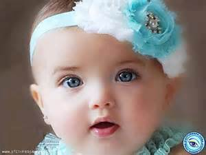 beautiful baby girl blue headband babies