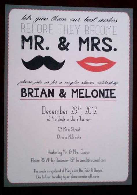 Couples Shower Invitations Etsy by Mr Mrs The O Jays And Wedding On